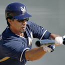Milwaukee Brewers' Kyle Lohse practices his bunting during Brewers spring training baseball practice, Thursday, Feb. 20, 2014, in Phoenix The Associated Press