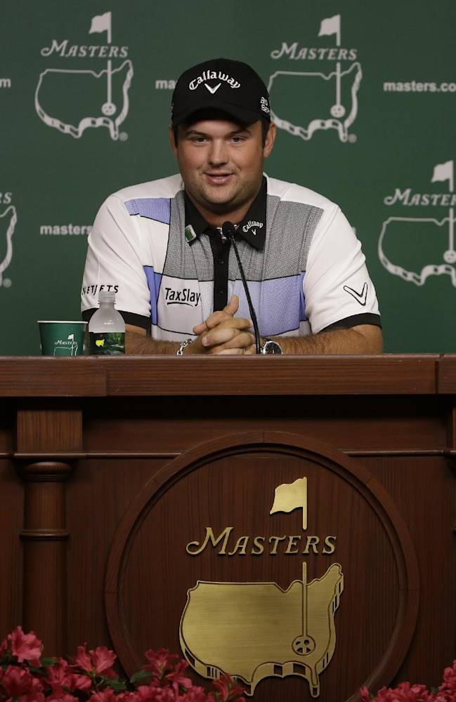 Amateur Patrick Reed speaks during a press conference at the Masters golf tournament Monday, April 7, 2014, in Augusta, Ga