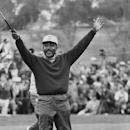FILE - In this Jan. 13, 1969 file photo, Charlie Sifford throws up his arms after he dropped a short par putt on the 18th green to tie Harold Henning of South Africa at the end of 72 holes in the $100,000 Los Angeles Open golf tournament. Sifford went on to win the tournament with a birdie 3 on the first extra hole. Pioneering black golfer Charlie Sifford will receive the nation's highest civilian honor, the Presidential Medal of Freedom, on Nov. 24 during a ceremony at the White House. The 92-year-old Sifford has been compared to Jackie Robinson for finally breaking the PGA's color line when it reluctantly dropped its