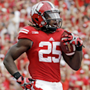 Wisconsin's Melvin Gordon reacts as he runs for a touchdown during the first half of an NCAA college football game against Bowling Green, Saturday, Sept. 20, 2014, in Madison, Wis The Associated Press