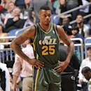 ORLANDO, FL - DECEMBER 18: Brandon Rush #25 of the Utah Jazz looks on against the Orlando Magic during the game on December 18, 2013 at Amway Center in Orlando, Florida. (Photo by Fernando Medina/NBAE via Getty Images)