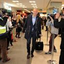 LONDON, ENGLAND - MAY 24:  In this handout provided by UEFA, Arjen Robben of FC Bayern Muenchen arrives with his team-mates at London City Airport on the eve of the UEFA Champions League Final on May 24, 2013 in London, United Kingdom.  (Photo by Handout/UEFA via Getty Images)
