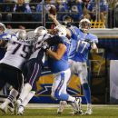San Diego Chargers quarterback Philip Rivers throws a pass against the New England Patriots during the second half in an NFL football game Sunday, Dec. 7, 2014, in San Diego The Associated Press