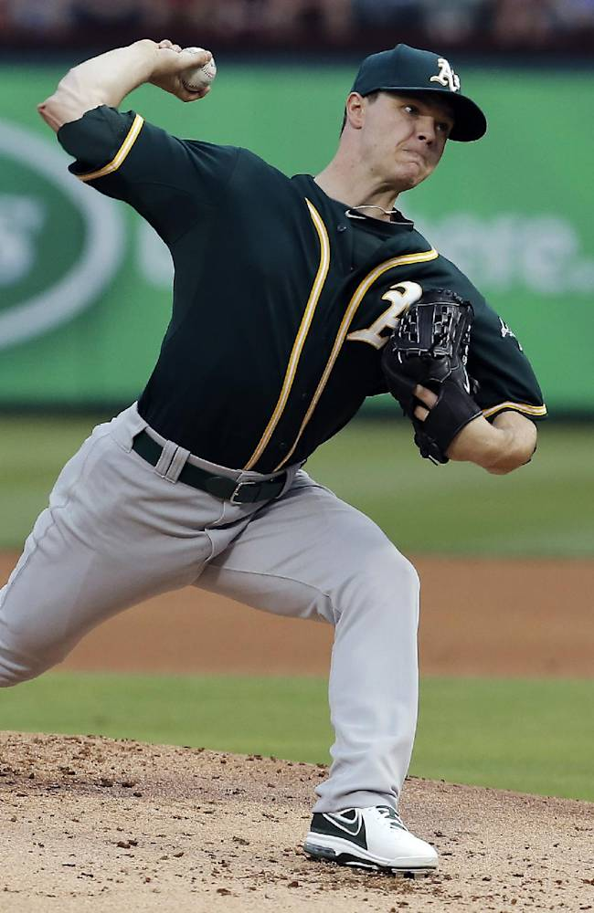 Gray throws 3-hitter for A's in 4-0 win at Texas