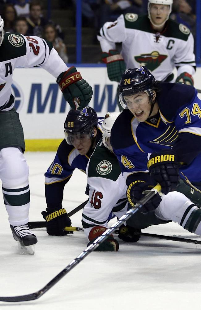 Oshie's hat trick lifts Blues over Wild 5-1
