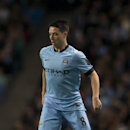Manchester City's Samir Nasri is seen during his team's English League Cup soccer match between Manchester City and Newcastle at the Etihad Stadium, Manchester, England, Wednesday Oct. 29, 2014