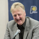 INDIANAPOLIS, IN - June 27: Larry Bird, President of Basketball Operations for the Indiana Pacers walks away on June 27, 2012 at Bankers Life Fieldhouse in Indianapolis, Indiana. (Photo by Ron Hoskins/NBAE via Getty Images)