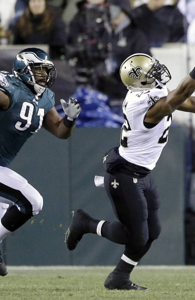 Brees rallies Saints to 20-14 lead over Eagles
