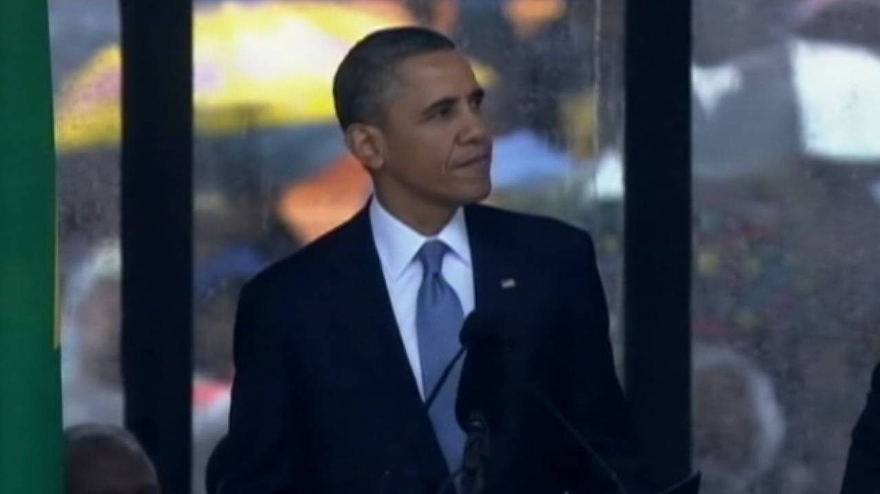 President Obama: 'He Wasn't a Saint, But a Man, a Father, a Friend'
