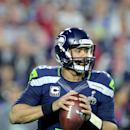 Seattle Seahawks QB Russell Wilson #3 in action during NFL Super Bowl XLIX football game against the New England Patriots on Sunday, Feb. 1, 2015, in Glendale, Ariz. (AP Photo/Gregory Payan)
