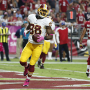 Washington Redskins wide receiver Pierre Garcon (88) scores a touchdown against the Arizona Cardinals during the second half of an NFL football game, Sunday, Oct. 12, 2014, in Glendale, Ariz The Associated Press
