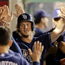 Tampa Bay Rays' Wil Myers celebrates a home run against the Los Angeles Angels during the second inning of a baseball game in Anaheim, Calif., Wednesday, Sept. 4, 2013. (AP Photo/Chris Carlson)