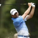 Spain�s Sergio Garcia hits from the second tee during the t</td></tr>