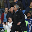 Chelsea manager Jose Mourinho shouts toward the referee during an English Premier League soccer match against Sunderland at the Stamford Bridge ground in London, Saturday, April 19, 2014. Sunderland won the match 2-1