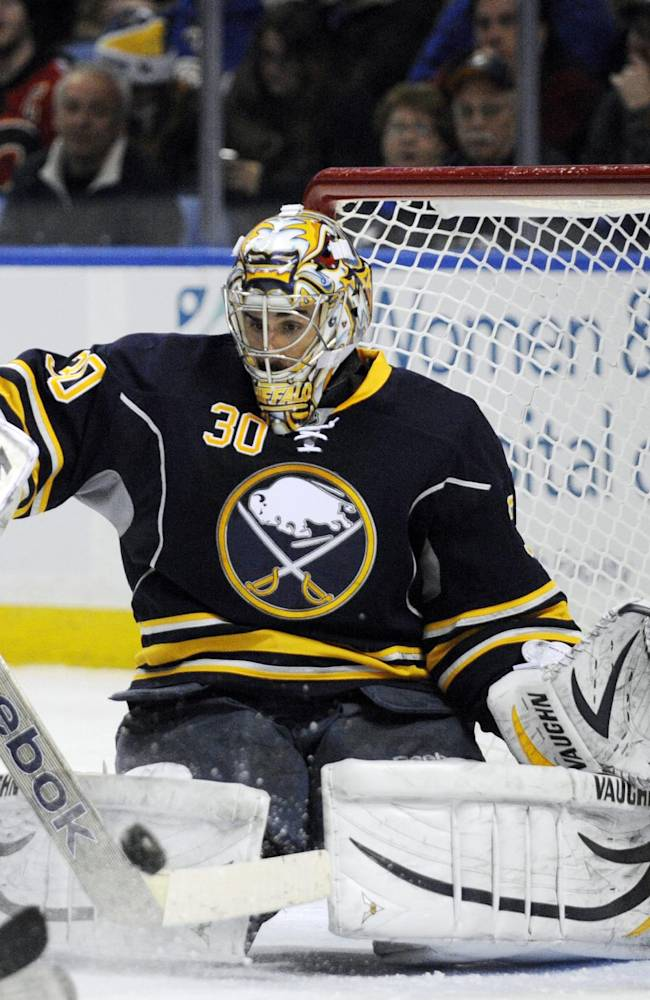 Miller makes 34 saves in Sabres' win over Bruins