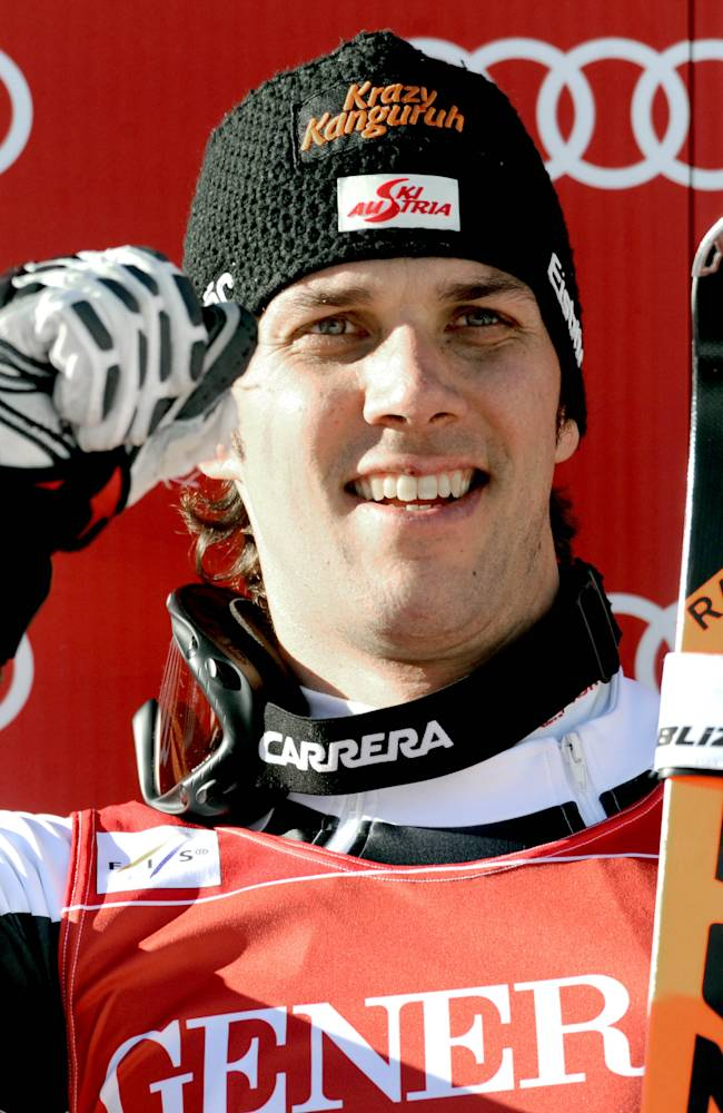 Matt wins World Cup slalom on a day for veterans