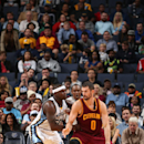 MEMPHIS, TN - OCTOBER 22: Kevin Love #0 of the Cleveland Cavaliers posts up against Zach Randolph #50 of the Memphis Grizzlies during the game on October 22, 2014 at FedExForum in Memphis, Tennessee. (Photo by Joe Murphy/NBAE via Getty Images)