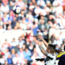 Newcastle United's Mathieu Debuchy, left, vies for the ball with Swansea City's Wilfried Bony, right, during their English Premier League soccer match at St James' Park, Newcastle, England, Saturday, April 19, 2014