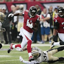 Atlanta Falcons wide receiver Julio Jones (11) runs the ball against the New Orleans Saints during the first half of an NFL football game, Sunday, Sept. 7, 2014, in Atlanta The Associated Press