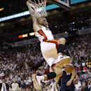 Miami Heat's Chris Andersen dunks during the first half in Game 2 of an opening-round NBA basketball playoff series against the Charlotte Bobcats, Wednesday, April 23, 2014, in Miami The Associated Press