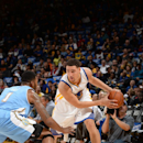 Oakland, CA- OCTOBER 24: Klay Thompson #11 of the Golden State Warriors handles the ball against the Denver Nuggets at the Oracle Arena in Oakland, California on October 24, 2014 . (Photo by Noah Graham /NBAE via Getty Images)