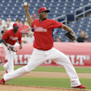 Philadelphia Phillies starting pitcher Roberto Hernandez throws a pitch during the first inning of an exhibition baseball game against the Toronto Blue Jays Wednesday, Feb. 26, 2014, in Clearwater, Fla The Associated Press