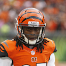 In this Nov. 17, 2013 file photo, Cincinnati Bengals cornerback Dre Kirkpatrick watches from the sidelines in the first half of an NFL football game against the Cleveland Browns, in Cincinnati. First-round pick Kirkpatrick hasn't been able to crack the Be