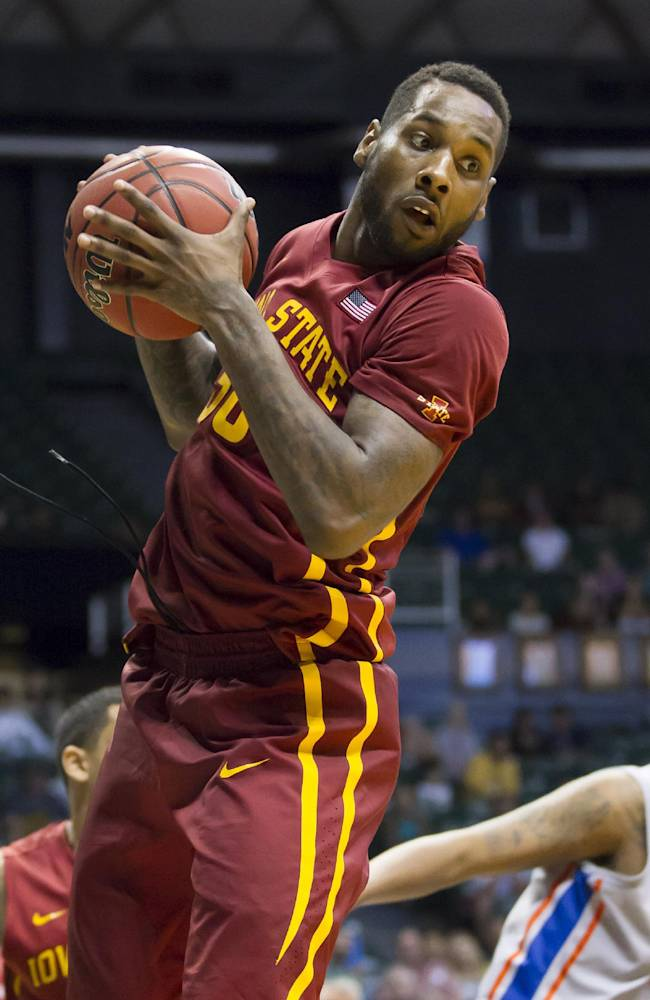 Iowa State guard DeAndre Kane (50) grabs a rebound during the second half of an NCAA college basketball game at the Diamond Head Classic on Wednesday, Dec. 25, 2013, in Honolulu. Iowa State won 70-66