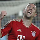 FILE -  In this May, 1, 2013 file photo, Bayern's Franck Ribery of France, celebrates after his team's second goal during the Champions League semifinal second leg soccer match between FC Barcelona and Bayern Munich in Barcelona, Spain. Bayern Munich star Franck Ribery and Real Madrid's Karim Benzema are facing potential prison terms in a trial opening Tuesday, June 18, 2013 on charges that they solicited an underage prostitute. They are accused of links to a suspected network of prostitutes that operated out of a Paris nightclub. A self-described escort girl, Zahia Dehar, has publicly said that Ribery flew her to Munich as a birthday present to himself in 2009, when she was under 18.(AP Photo/Matthias Schrader, File)
