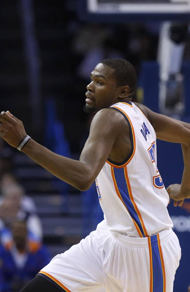Durant has triple-double, Thunder beat Wolves