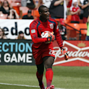 D.C. United goalkeeper Bill Hamid (28) in action during the first half of an MLS soccer match against the New York Red Bulls, at RFK Stadium, Sunday, Aug. 31, 2014, in Washington The Associated Press
