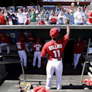 Philadelphia Phillies shortstop Jimmy Rollins signs autographs for fans before an exhibition baseball game against the Detroit Tigers, Friday, Feb. 28, 2014, in Clearwater, Fla The Associated Press
