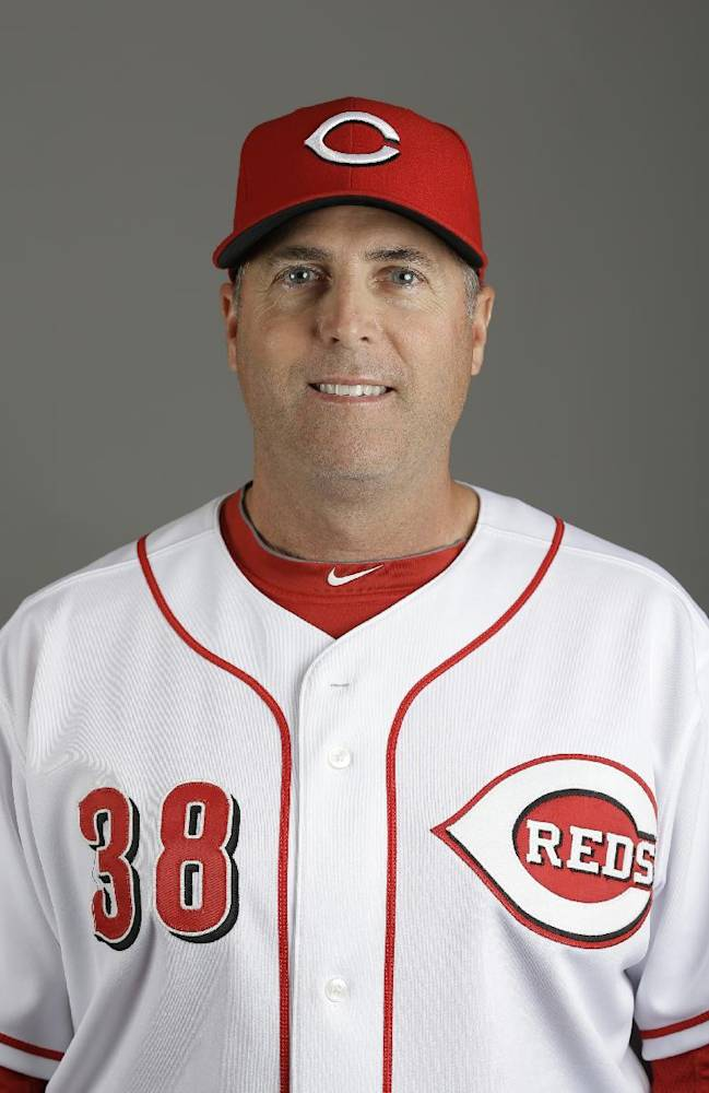 This is a 2013 photo of Cincinnati Reds pitching coach Bryan Price. This image reflects the Cincinnati Reds baseball team active roster when this image was taken in Goodyear, Ariz., Saturday, Feb. 16, 2013
