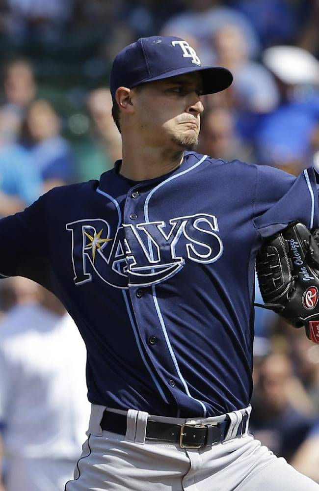 Odorizzi dominates as Rays beat Cubs 4-0