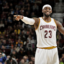 CLEVELAND, OH - OCTOBER 5: LeBron James #23 of the Cleveland Cavaliers calls out to his teammates in the game against the Maccabi Tel Aviv at The Quicken Loans Arena on October 16, 2014 in Cleveland, Ohio. (Photo by David Liam Kyle/NBAE via Getty Images)