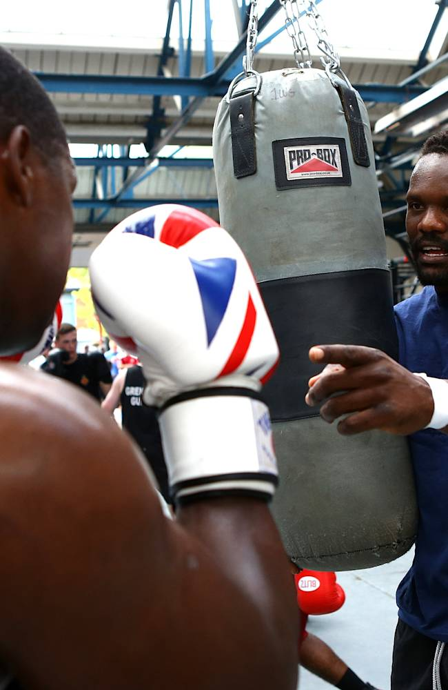 Dereck Chisora Media Workout