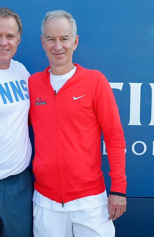 McEnroe Brothers Host Starwood Preferred Guest Member Tennis Clinic