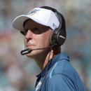 Miami Dolphins head coach Joe Philbin watches from the sideline during the first half of an NFL football game against the Jacksonville Jaguars in Jacksonville, Fla., Sunday, Oct. 26, 2014. (AP Photo/Phelan