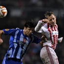Kiev's Alexander Dragovic, left, and Aalborg's Thomas Enevoldsen during their Europa League Group J match between Aalborg Boldklub and Dynamo Kiev at Aalborg Stadium, Denmark, Thursday, Oct. 23, 2014 The Associated Press