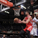 SACRAMENTO, CA - APRIL 3: Chandler Parsons #25 of the Houston Rockets goes to the basket against Jason Thompson #34 of the Sacramento Kings on April 3, 2013 at Sleep Train Arena in Sacramento, California. (Photo by Rocky Widner/NBAE via Getty Images)