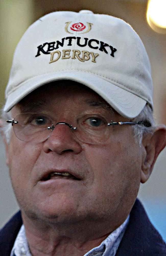 Kentucky Derby winning trainer Art Sherman talks about California Chrome's victory at Churchill Downs in Louisville, Ky., Sunday, May 4, 2014