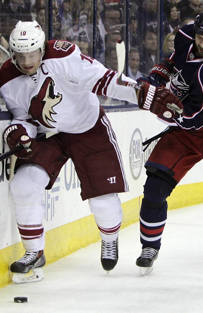 Johansen's OT goal lifts Jackets past Coyotes