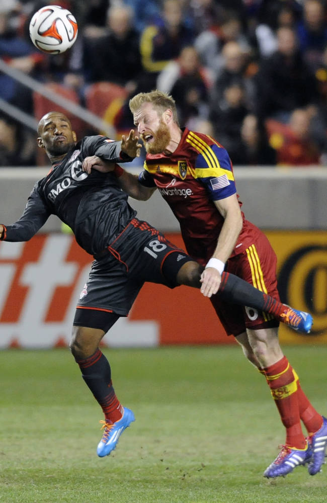 Saborio powers Real Salt Lake past Toronto FC 3-0