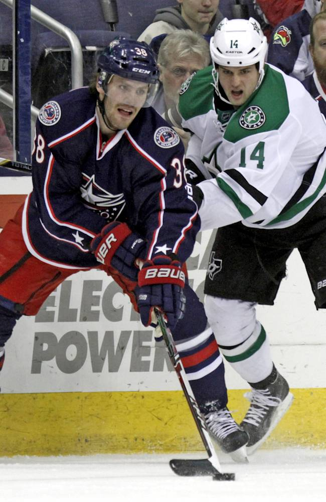 Anisimov leads Blue Jackets, 4-2 over Stars