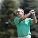 John Cook plays during the third round of the Champions Tour's 3M Championship golf tournament at TPC Twin Cities in Blaine, Minn., Sunday, Aug. 3, 2014. (AP Photo/Paul Battaglia)