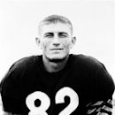FILE - In this Dec. 21, 1954 file photo, Chicago Bears football player Harlon Hill poses for a portrait. Hill, the former star receiver for the Bears whose name adorns the NCAA Division II college football player of the year trophy, died Thursday, March 21, 2013, at Eliza Coffee Memorial Hospital in Florence, Ala., after a lengthy illness, said Jeff Hodges, chairman of the National Harlon Hill Award Committee. He was 80. (AP Photo/File)