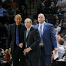 SAN ANTONIO, TX - NOVEMBER 26:Ettore Messina and the San Antonio Spurs coaching staff stand on the court during a game against the Indiana Pacers at the AT&T Center on November 26, 2014 in San Antonio, Texas