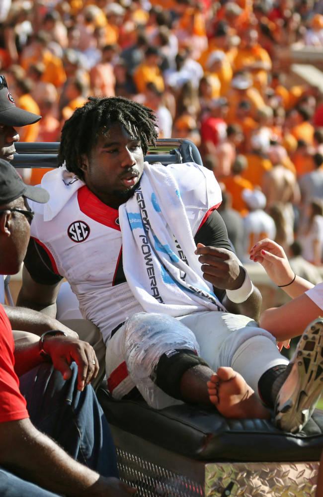 Injuries hurt Georgia at tailback, wide receiver