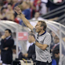 United States manager Jurgen Klinsmann instructs his team against Mexico during the first half of a World Cup qualifying soccer match Tuesday, Sept. 10, 2013, in Columbus, Ohio. (AP Photo/Jay LaPrete)