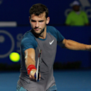 Bulgaria's Grigor Dimitrov returns the ball while playing against Britain's Andy Murray during a semi-final match of the Mexican Tennis Open in Acapulco, Mexico, Friday, Feb. 28, 2014. Murray lost in three sets to Dimitrov. (AP Photo/Jam Media- Hugo Avila)